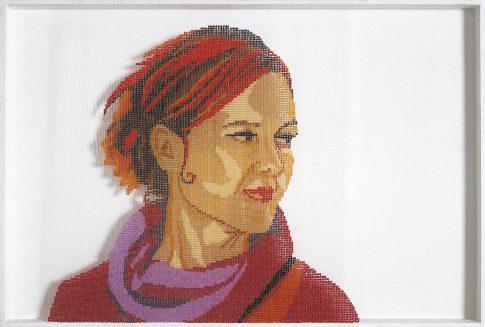 Perlenkunst Portrait