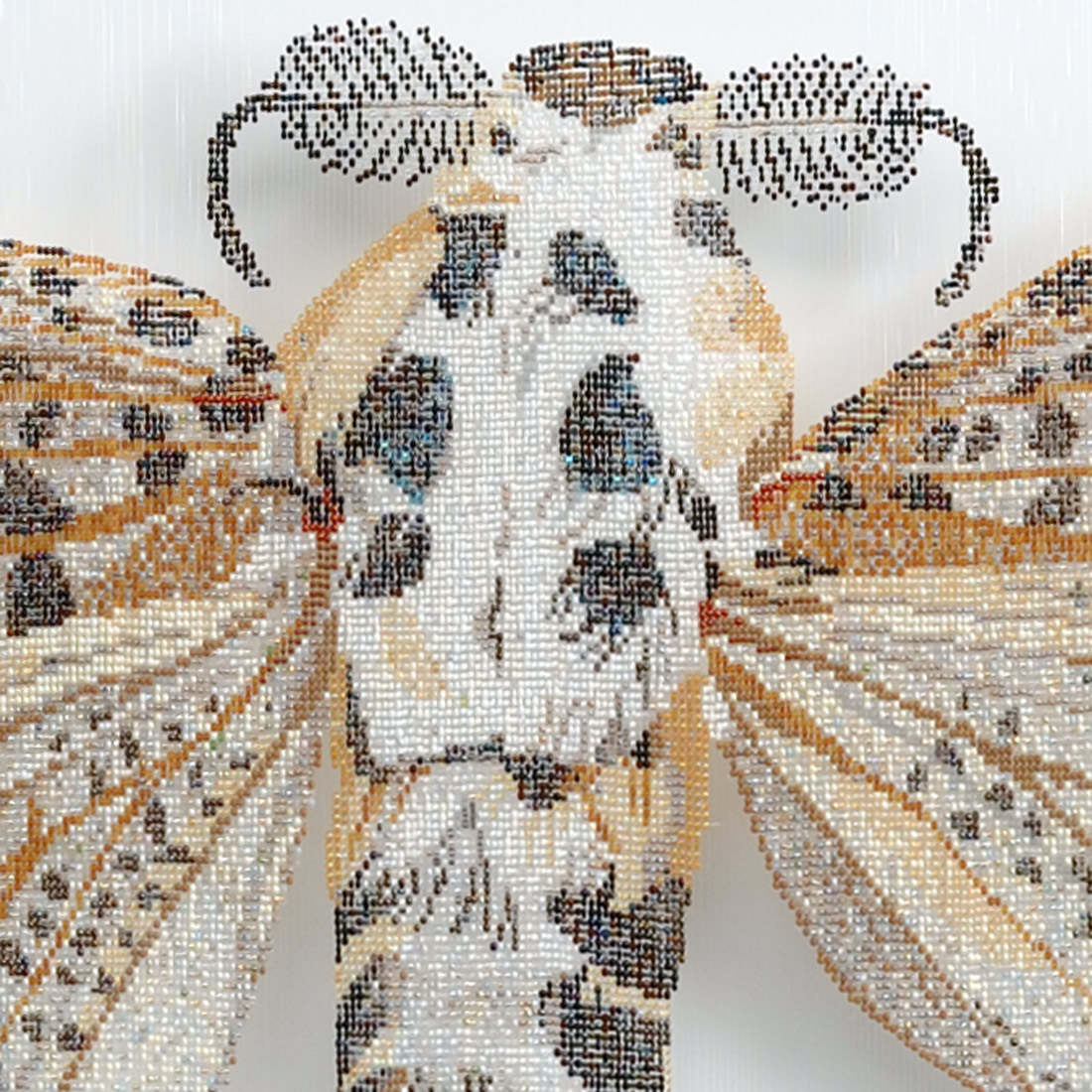 Leopardenmotte, gewebte Perlen